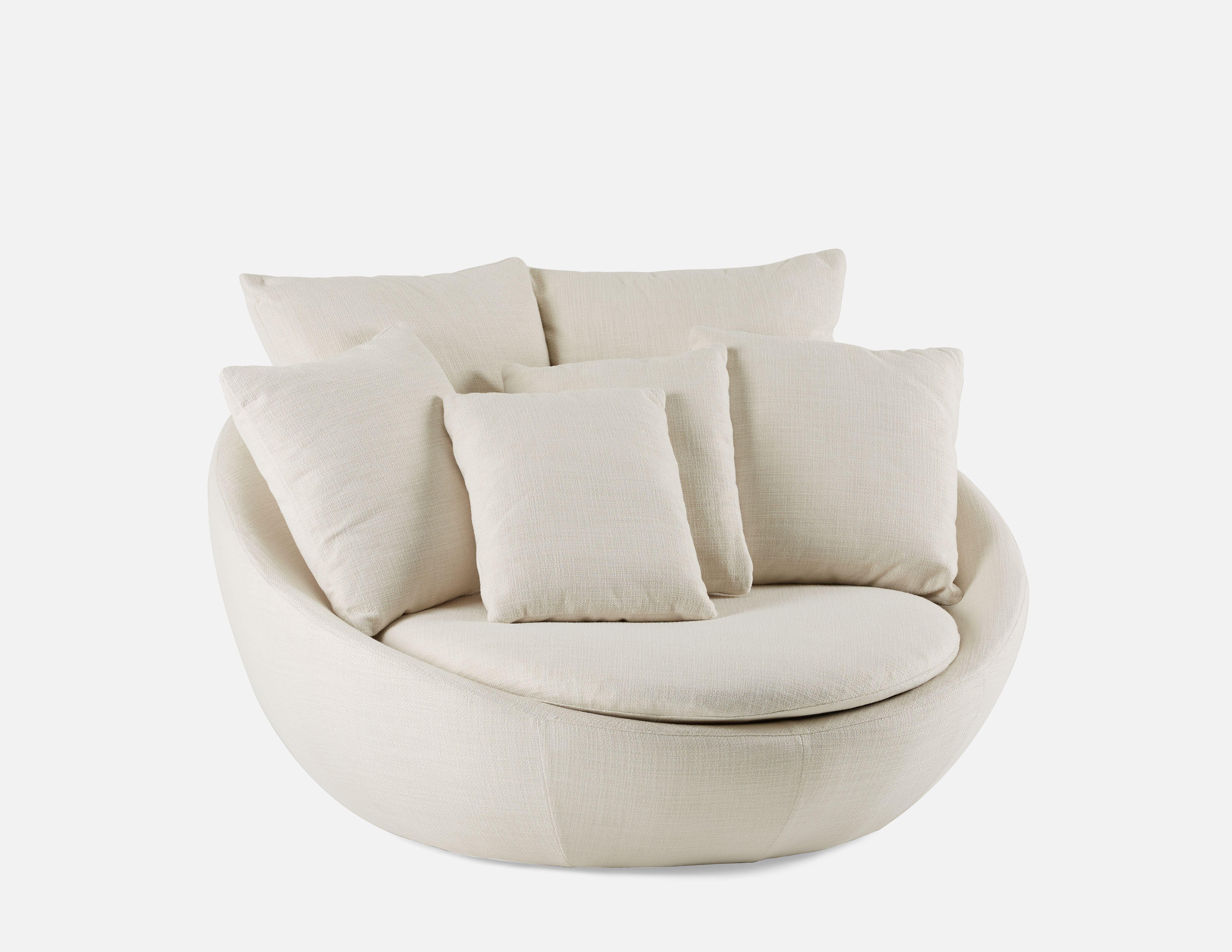 Sensational Cozy Cream Round Shaped Loveseat In 2019 Cuddle Chair Machost Co Dining Chair Design Ideas Machostcouk