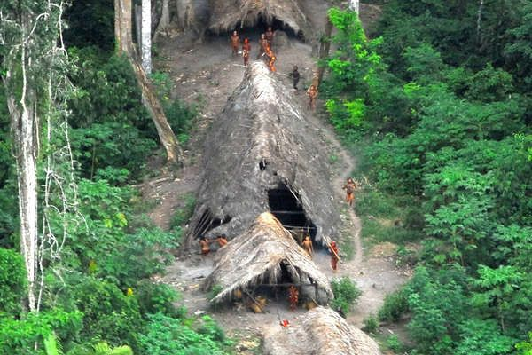 The gorgeous landscapes which house the uncontacted Indians of Brazil, the lush, dense greenery and unique huts.