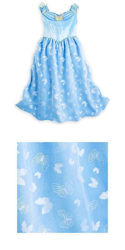 Disney Store Princess Cinderella Short Sleeve Nightgown Pajama Girl Size 5//6