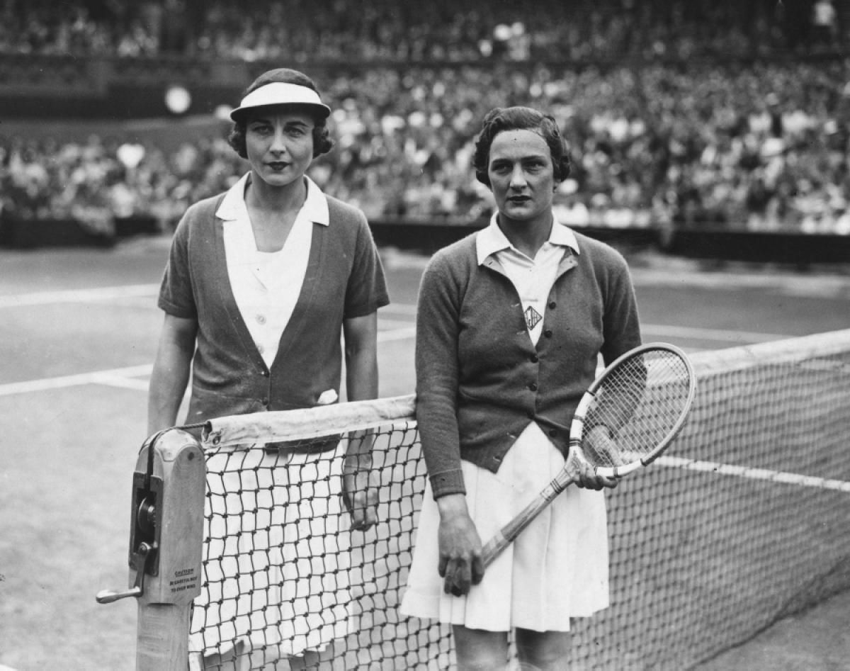 Helen Wills Moody left & Helen Jacobs 1938 Wimbledon Women s