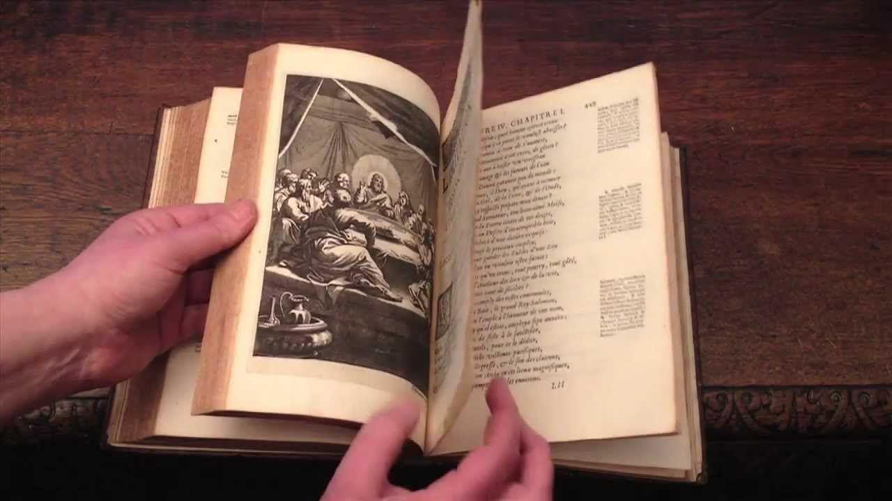 Beau livre ancien du XVIIe siècle : imitation de jesus christ, traduit p...
