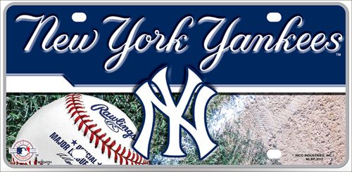 Rico New York Yankees Black Custom Plastic License Plate Frame Tag Cover Baseball