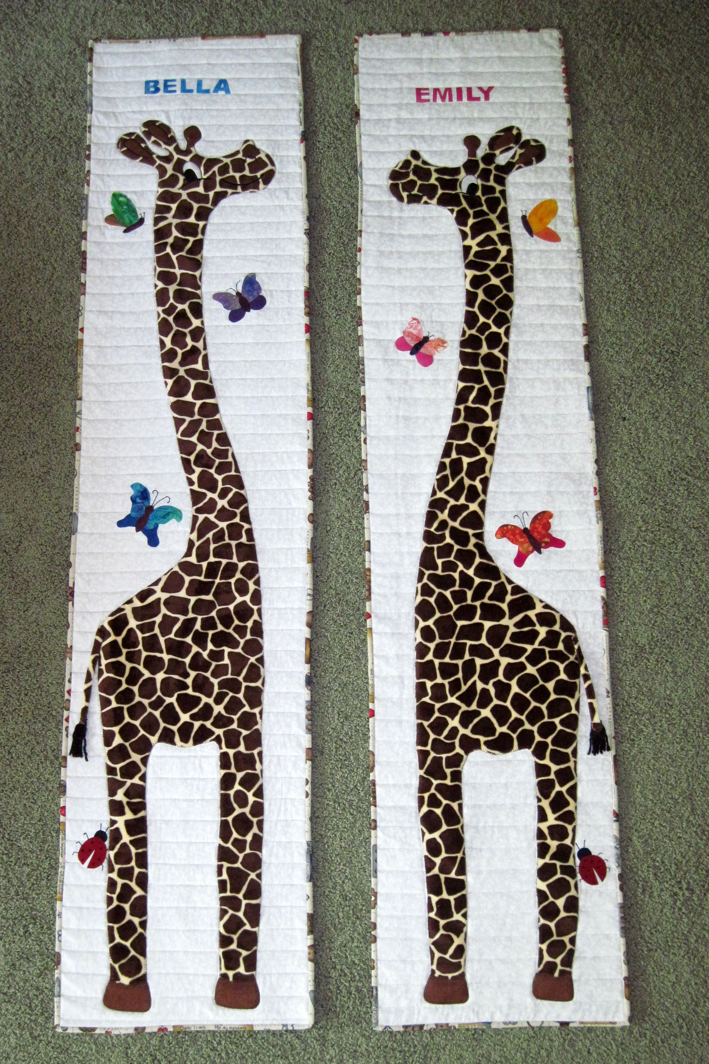 Giraffe growth charts i made for my twin granddaughters pattern giraffe growth charts i made for my twin granddaughters pattern by chi chi quilt designs nvjuhfo Choice Image