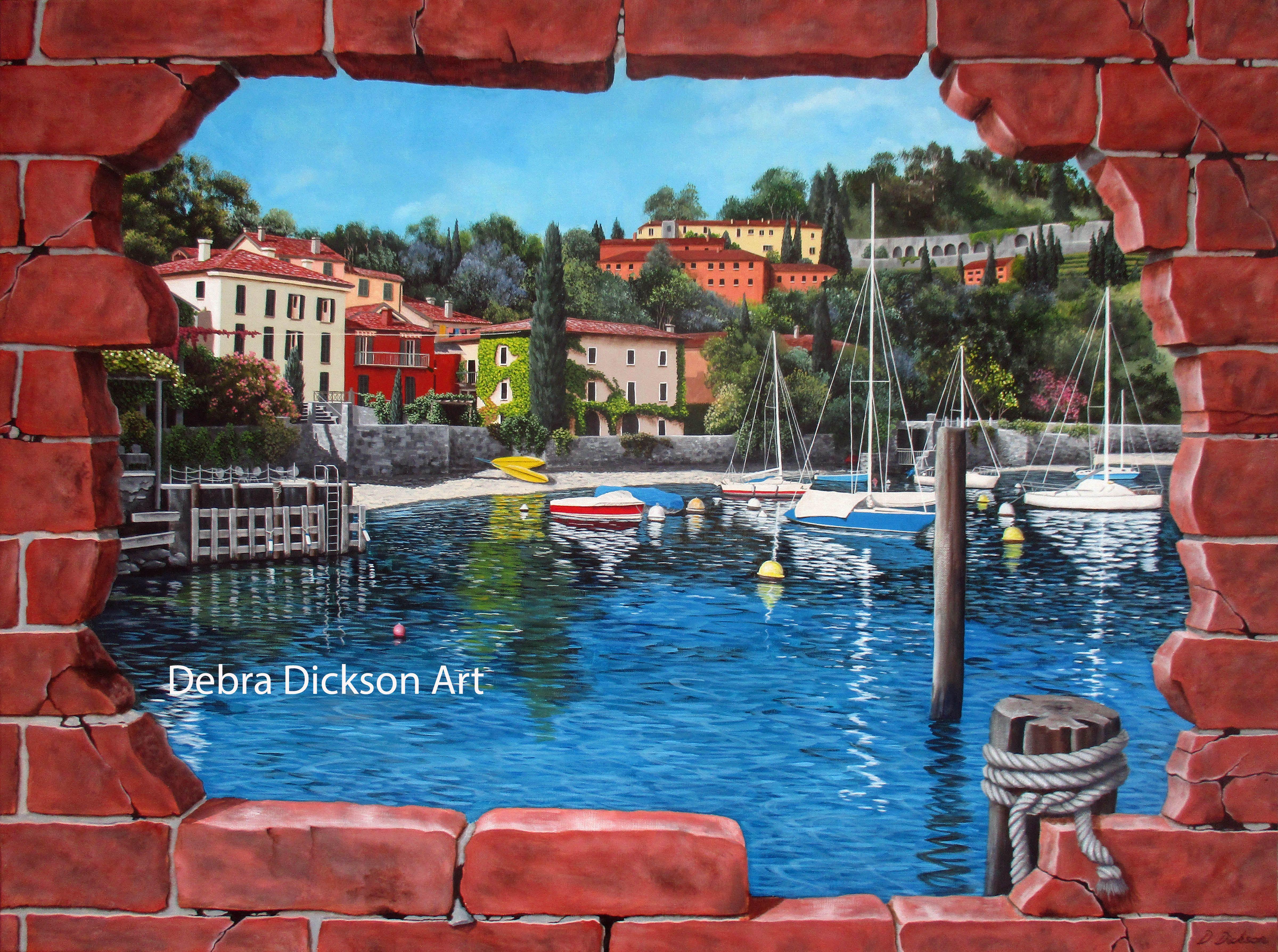 Pescallo, Lake Bellagio, Italy, Trompe Loeil Italy, Lake