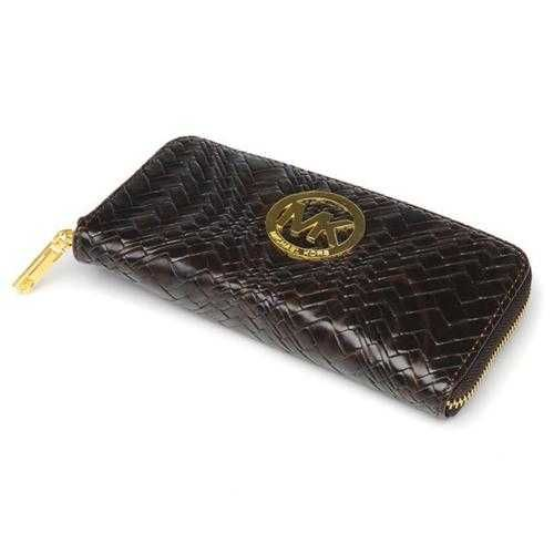 Michael Kors Snake Embossed Large Coffee Wallets - $38.99