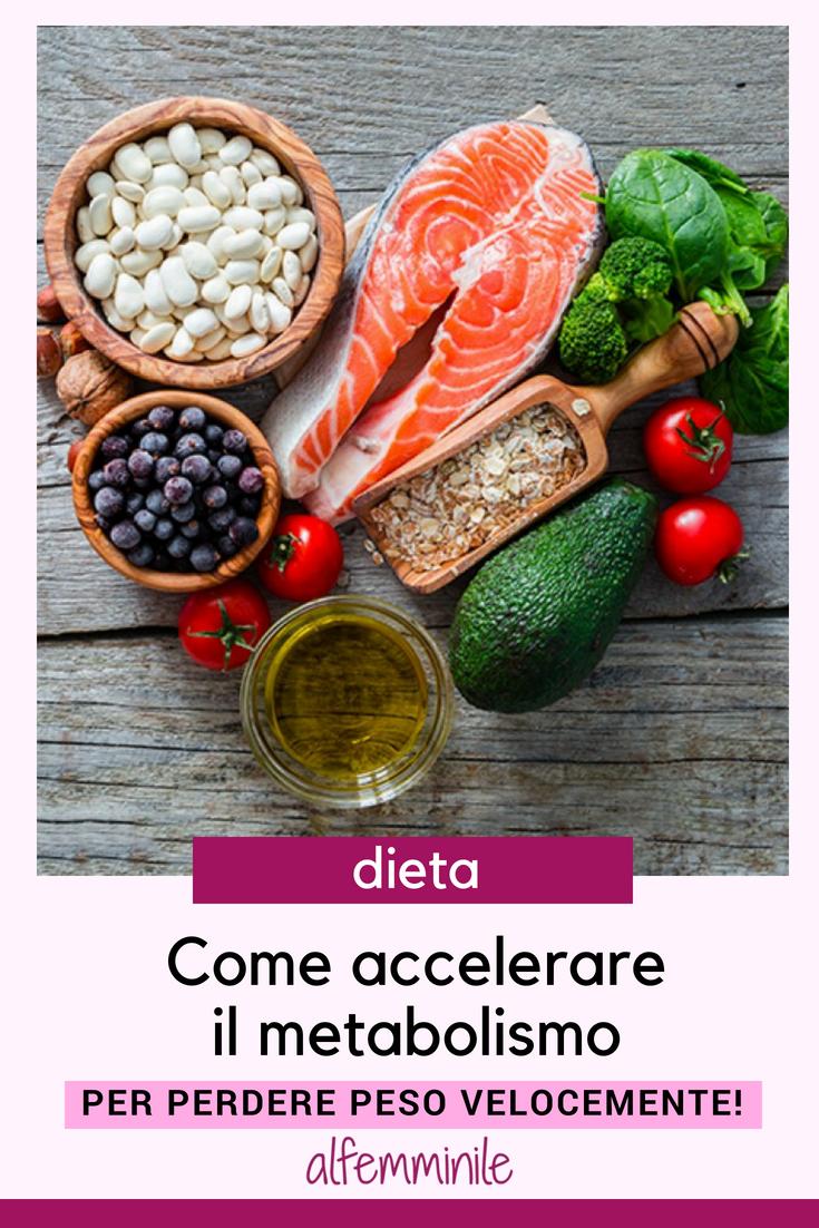 alimenti per aumentare il metabolismo