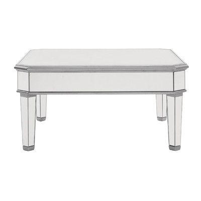Wildon Home Kyla Mirrored Coffee Table Reviews Wayfair - Wayfair mirrored coffee table