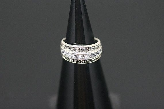 1pcstr-0052 sterling silver ring with marcasite and cz by 3yes