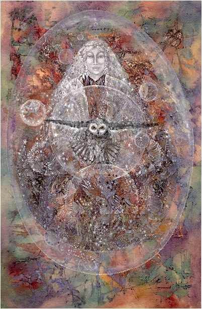 Artist Susan Seddon Boulet's work is awesome. We have a board with more of her work. She passed away in the past few years but her work is a spiritual legacy that lives on