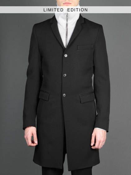 BEST OF SALE FW13 w/ KRISVANASSCHE+ long black three buttons jacket with three pockets #krisvanasscheplus