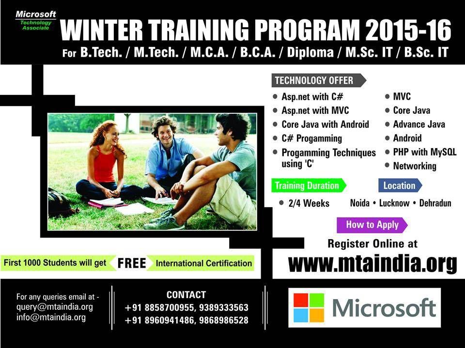 Microsoft Winter Training With International Certification