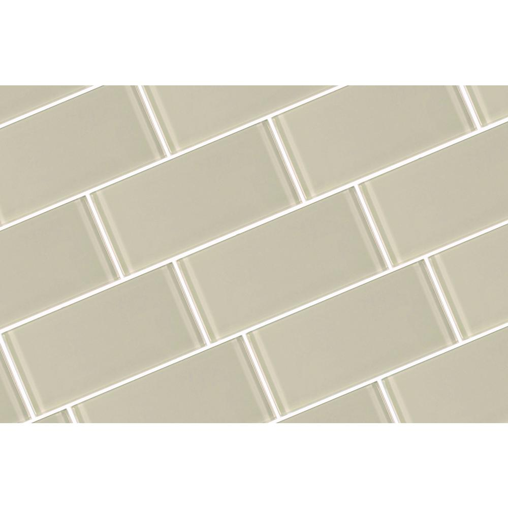 - ABOLOS Metro Creme Subway 3 In. X 6 In. Glossy Wall Tile (8-Pieces