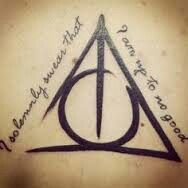 deathly hallows ink
