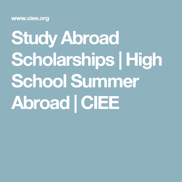 Spend your high school summer abroad with CIEE, learn a new language, and  immerse yourself in a new culture. Choose from 30 programs in 14 countries.