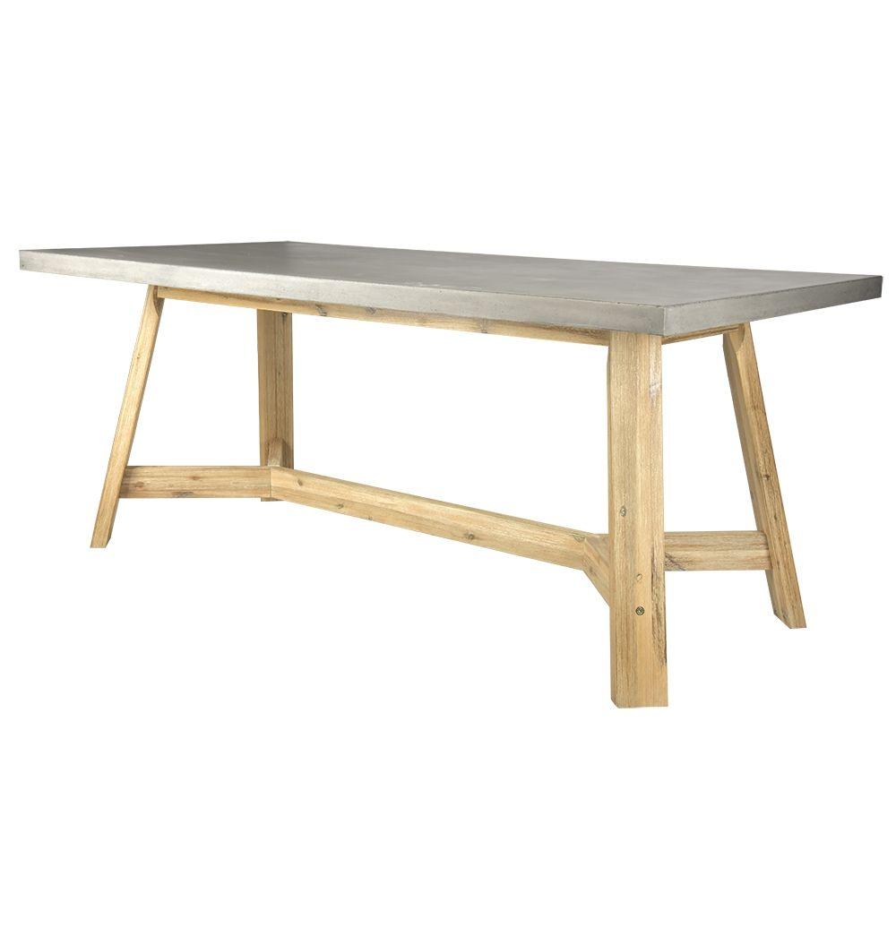 Ajax Concrete Dining Table   Matt Blatt