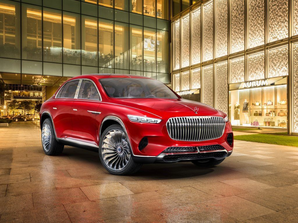 Vision Mercedes-Maybach Ultimate Luxury, concept car, red wallpaper