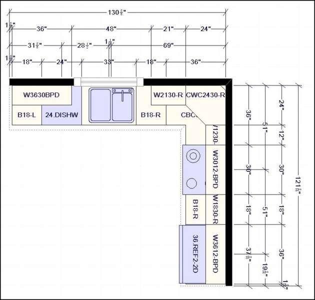 L Shaped Kitchen Layout Dimensions L Shape Kitchen Layout Kitchen Layout Plans Kitchen Layout