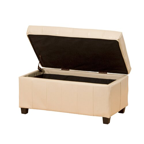 Marlow Home Co Wines Grafton Faux Leather Storage Bench Bench With Shoe Storage Wood Storage Bench Leather