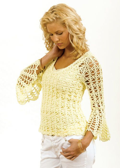 Open crochet top……... | Knit & Crochet | Pinterest | Patrones de ...