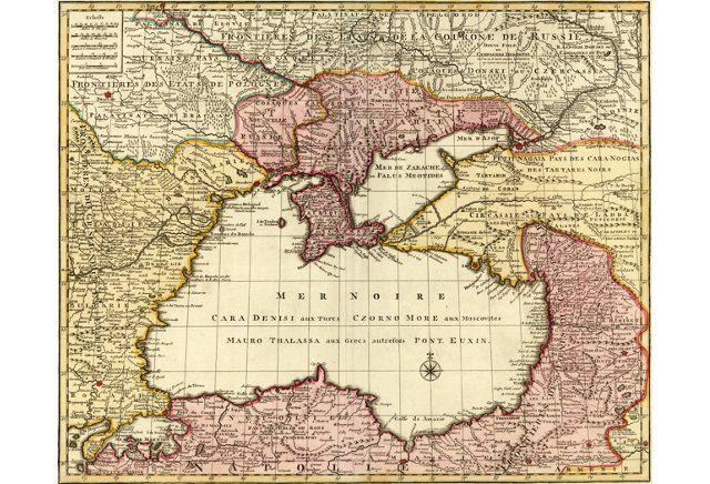 Map of the Black Sea, 1792 #map #blacksea