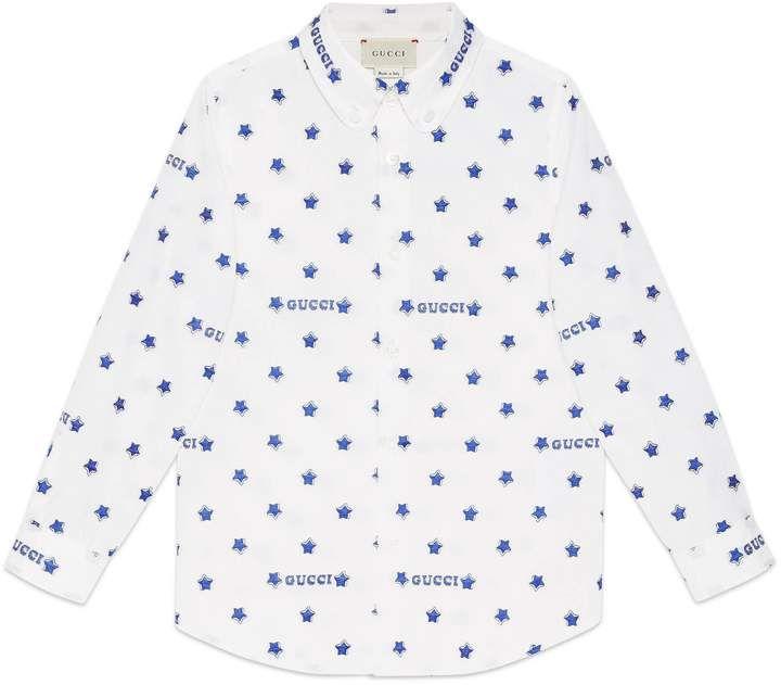 62e46f44c468 Children's Gucci star fil coupé shirt in 2019 | Products | Gucci ...