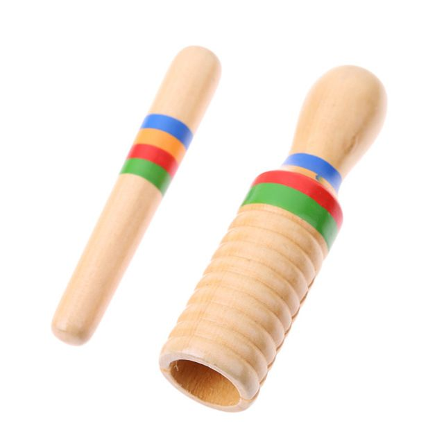 Wooden Crow Sounder Kids Guiro Percussion Instrument For Children Kids W