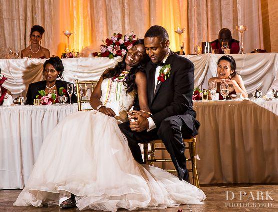 Red White Crimson Wedding Ceremony Kenyan Jamaican