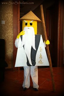 lego ninjago costume tutorial for tom as sensei wu for instruction at party ninjago stuff. Black Bedroom Furniture Sets. Home Design Ideas