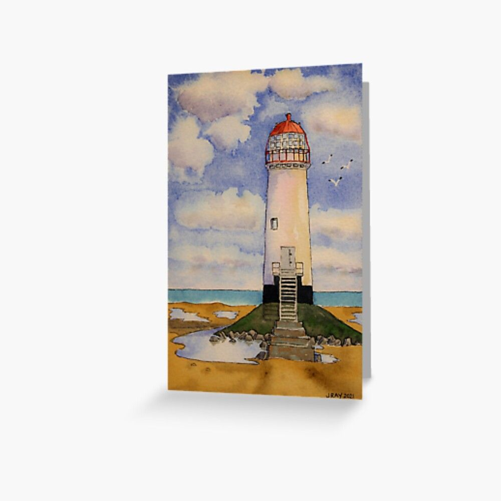 Point of Ayr Lighthouse. Greeting Card by John Ray