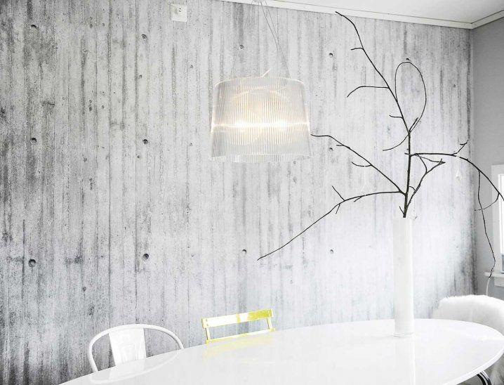 White Fresh Tapetti Concrete Wallpaper Creative Wall Decor Contemporary Wallpaper Designs