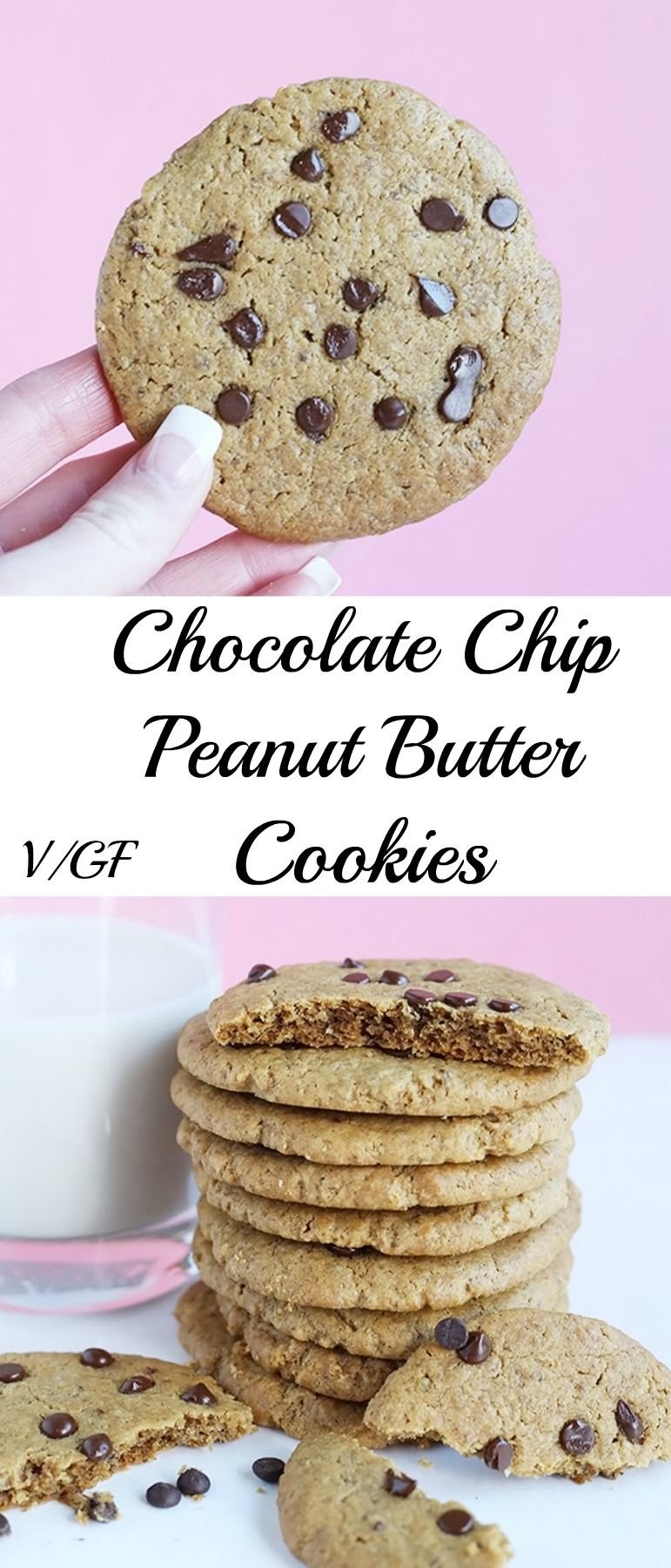 Chocolate chip peanut butter cookies tworaspberries