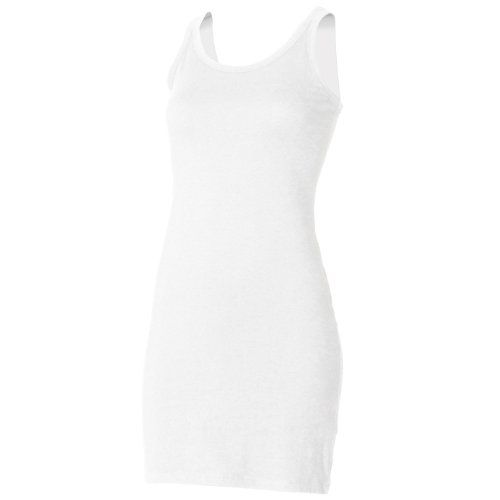 Skinni Fit Ladies Womens Extra Long Stretch Tank Top   Vest (S ... dafb61826