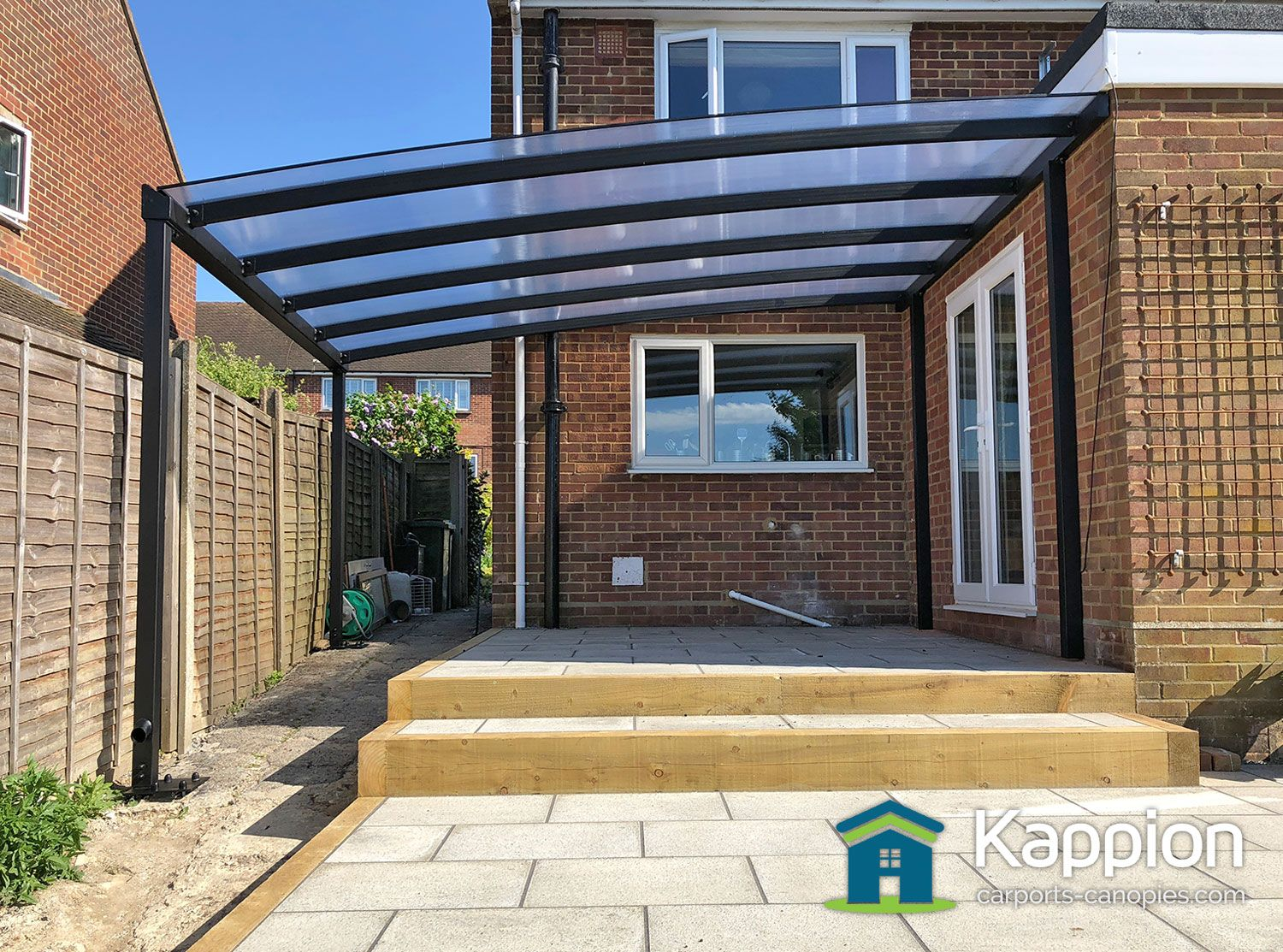 Renovation of a patio ready for summer! Canopy fully
