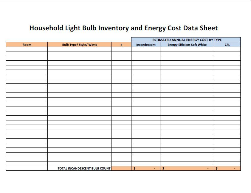 printable blank inventory spreadsheet