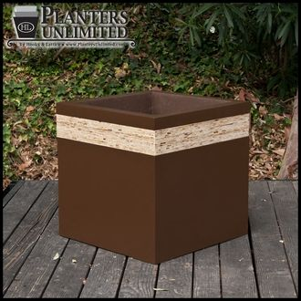 When choosing planters for residential and commercial settings, designer planters with wood accents may be the perfect fit. #modernplanters