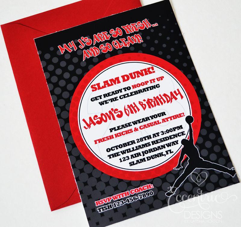Air Jordan Jumpman - Birthday Party Invitation invitation u0027s and - fresh birthday party invitation designs