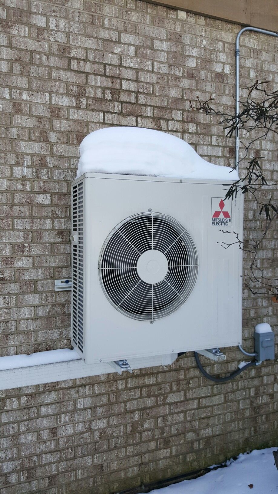mitsubishi muz fh18na hyper heat 1 1 heat pump installed in elburn il heating and air conditioning heat ductless heating pinterest