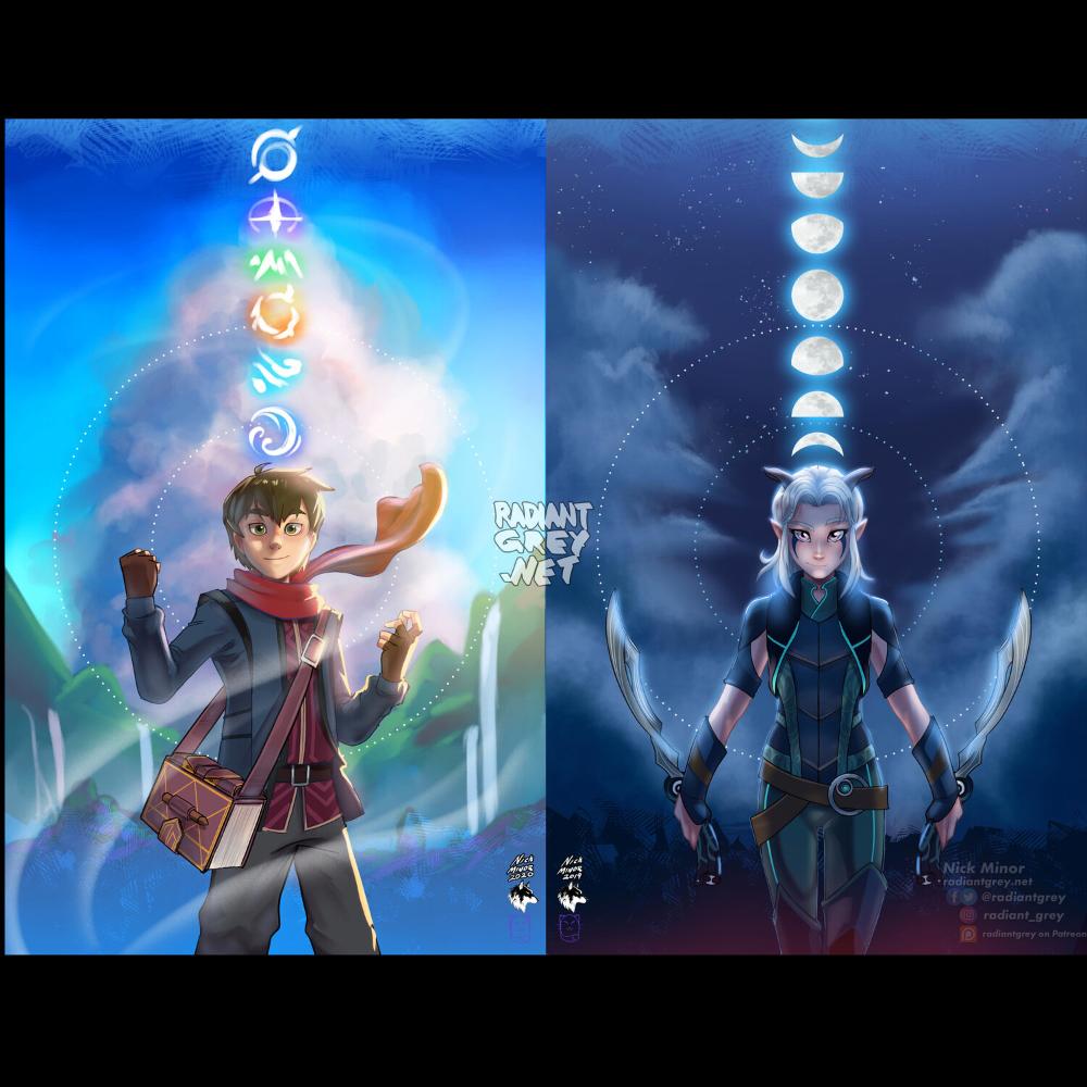 Photo of Rayla Dragon Prince Poster Print Wall Art Decor Fanart Animation — Radiant Grey