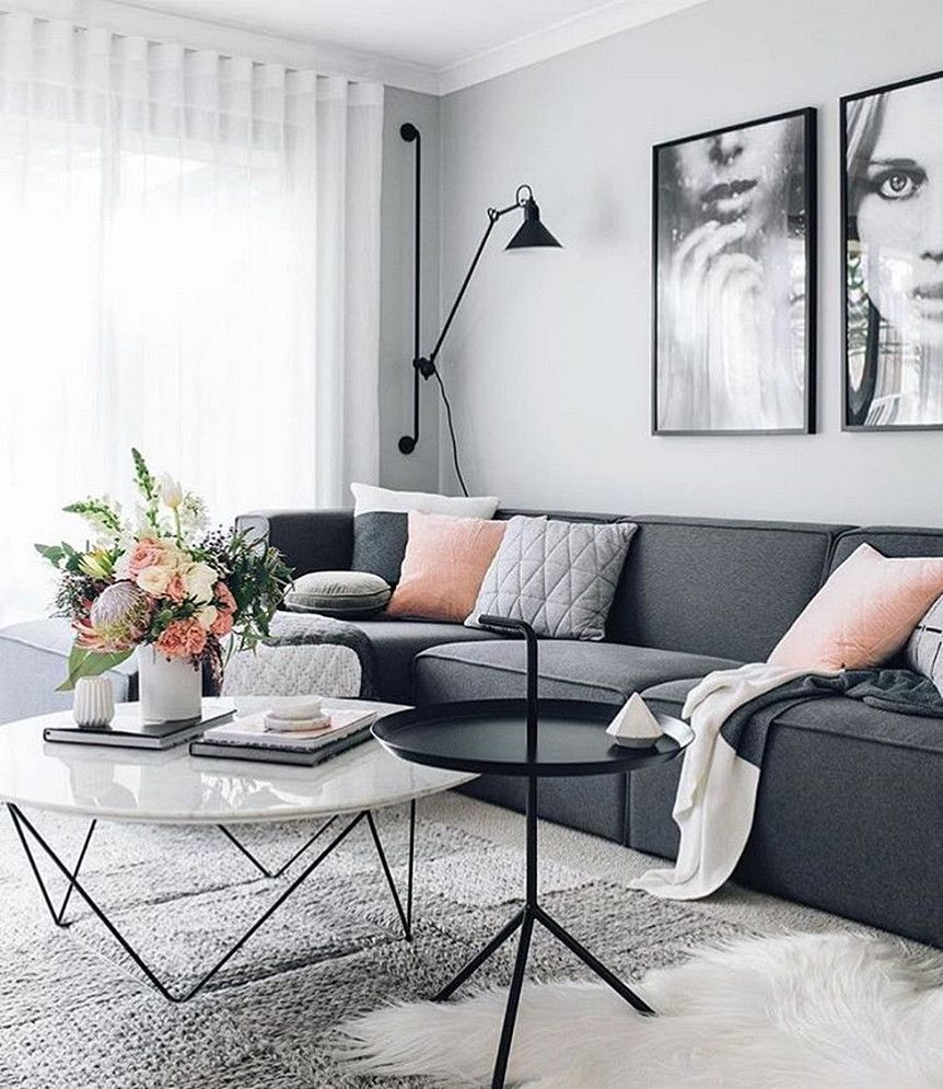 111 Fabulous Dark Grey Living Room Ideas to Inspire You | Grey ...