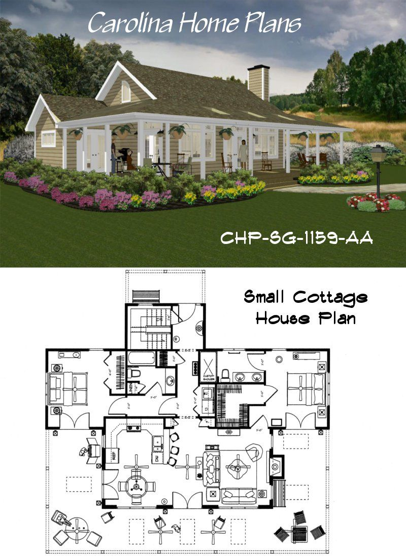 Small House Plan In 2020 Affordable House Plans Beach House Floor Plans Cottage Floor Plans