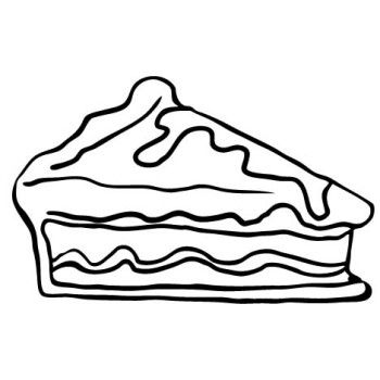 Slice Apple Pie Cake Coloring Pages