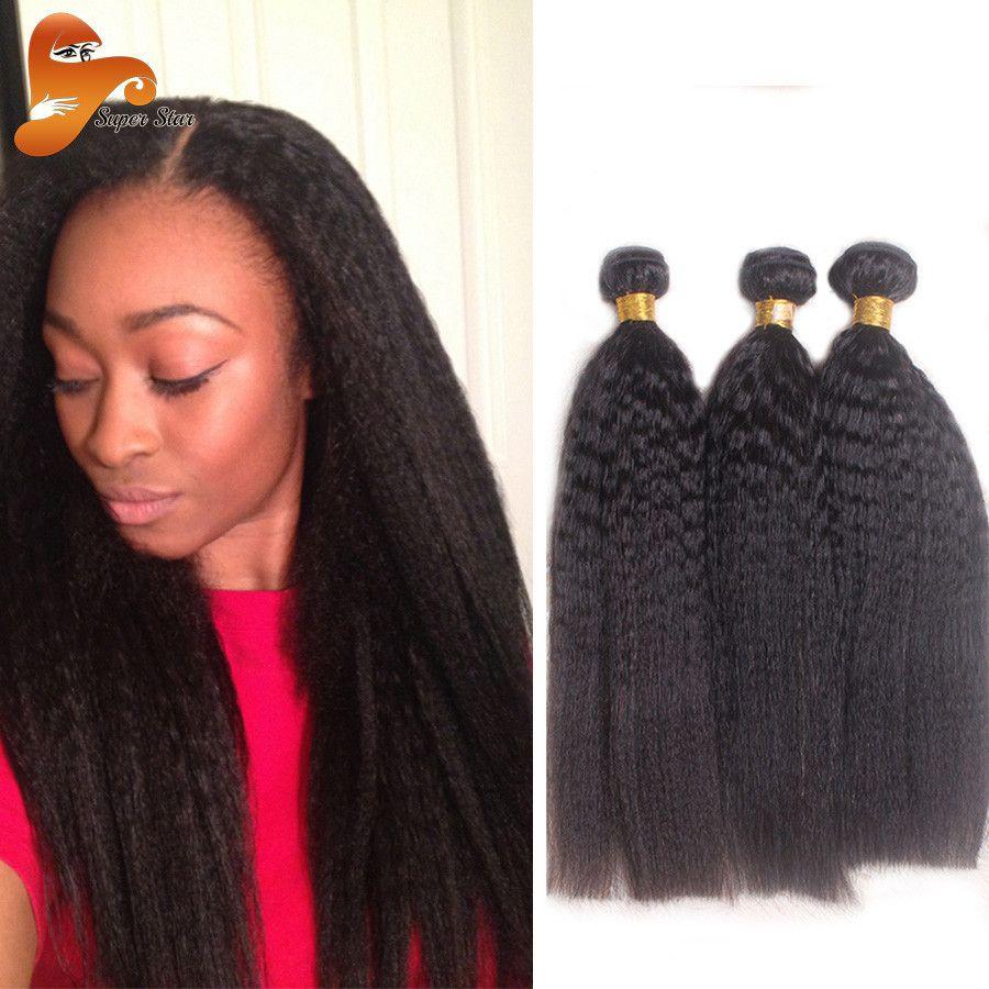 Brazilian Kinky Straight Virgin Hair Weave 3 Bundles Hair Weaves