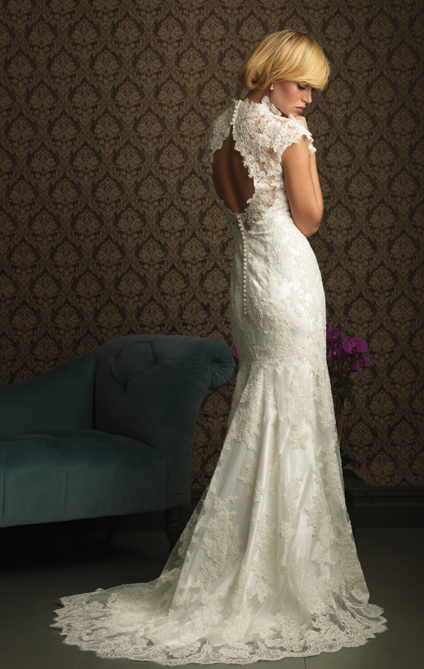 Allure wedding dress. Love the detail and simple sophistication ...