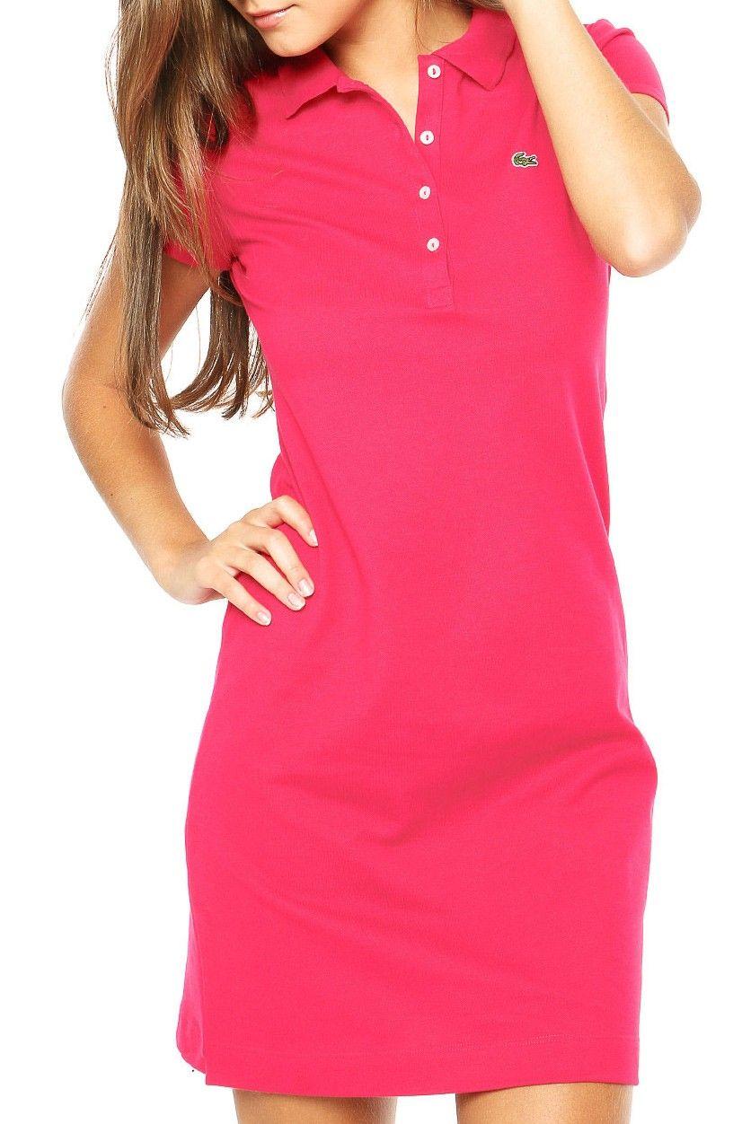 buy popular 6b289 4590e Vestido Polo Lacoste Basic Rosa | Cute & Simple in 2019 ...
