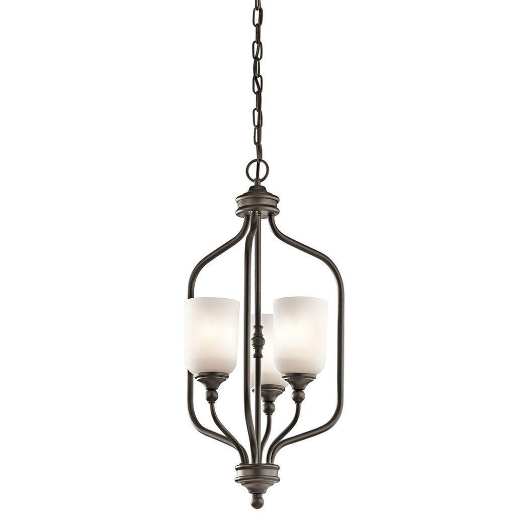 Kichler lighting lilah collection light olde bronze foyer pendant