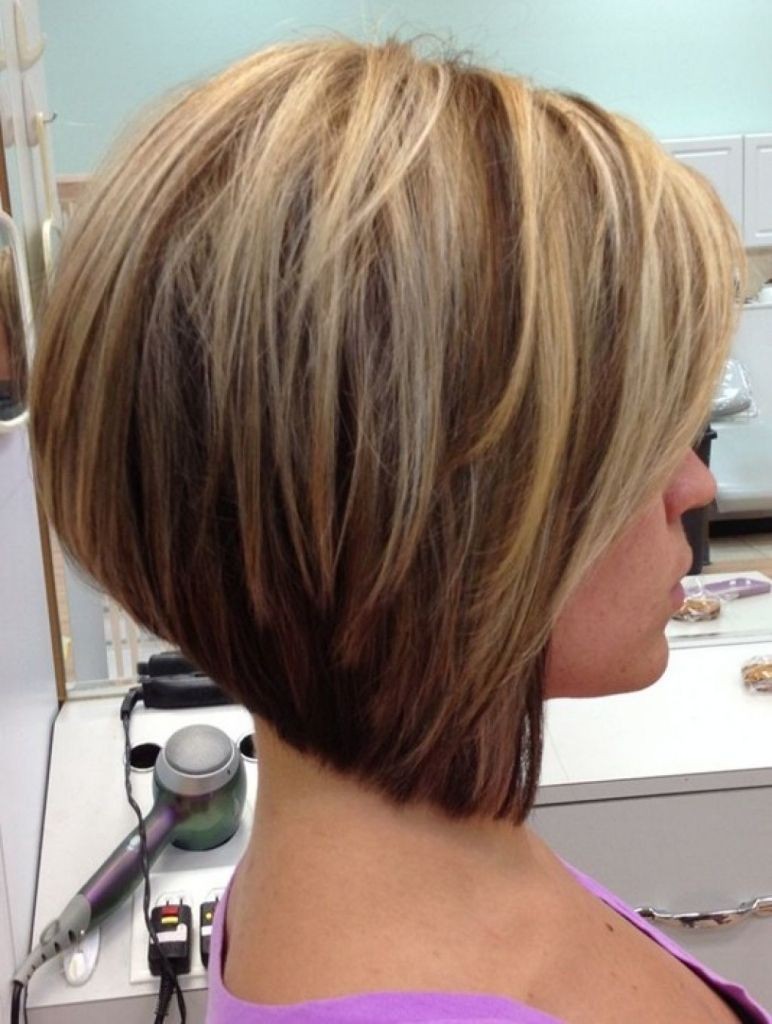 stacked wedge haircut photos back view a short stacked bob