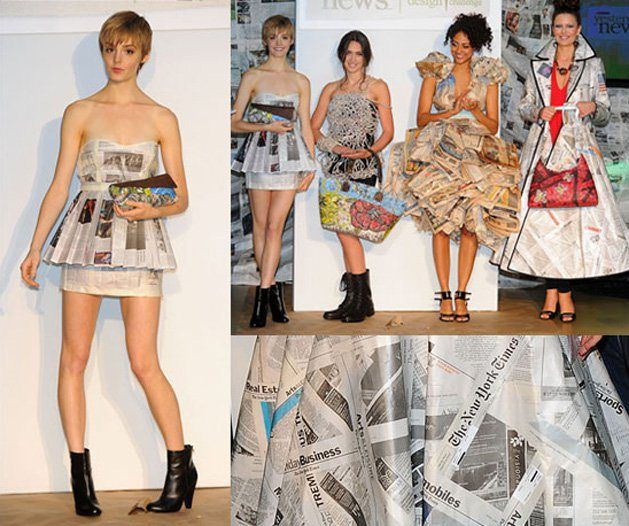 Dresses Made from Recycled Newspapers | Make: DIY Projects, How-Tos, Electronics, Crafts and Ideas for Makers