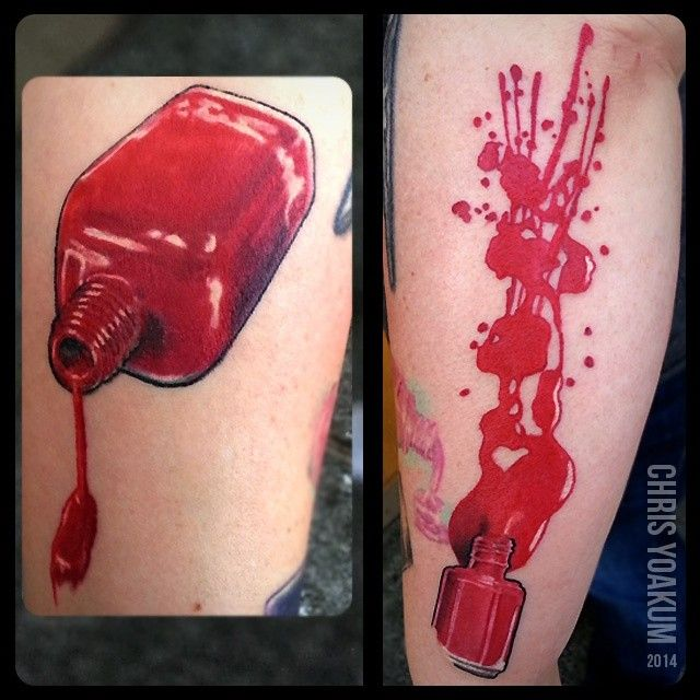 Nail Polish Bottle Tattoo Designs To Bend Light