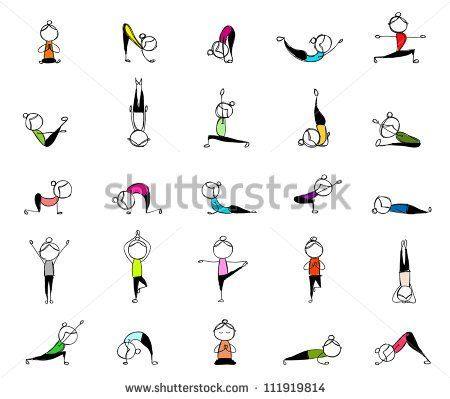 pinben on stick figure drawing  yoga illustration