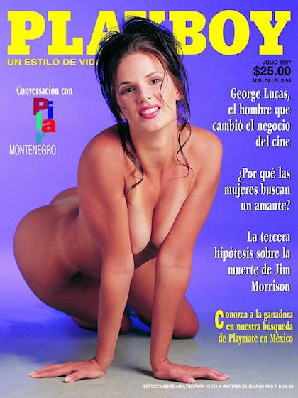 Playboy (Mexico) July 1997 with Genna on the cover of the magazine
